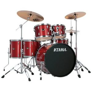 "Tama Imperialstar 6 Piece Drum Set with Hardware and Meinl HCS Cymbals - 22"" Bass Drum"